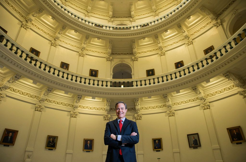 Texas Speaker of the House Joe Straus poses for a portrait in the rotunda of the Texas state capitol on Dec. 11, 2017 in Austin.