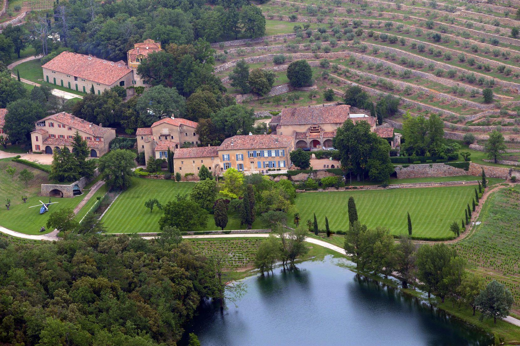 Imagen aérea del Castillo Miraval, al sur de Francia, en 2008.