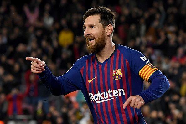 Lionel Messi del FC Barcelona.