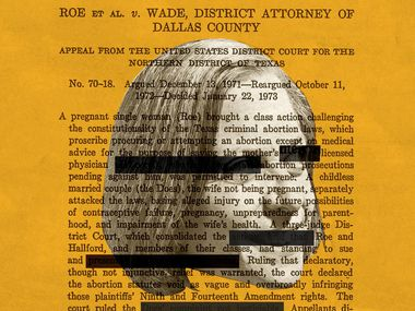 Writer Karen Blumenthal requested copies of the 50-year-old Roe v Wade files from the state of Texas. The attorney general insisted on redactions.