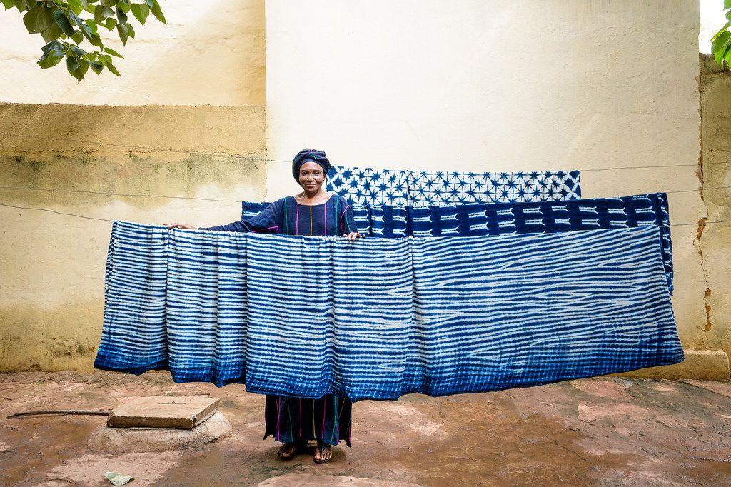 Artist Aissata Namoko and her textiles.