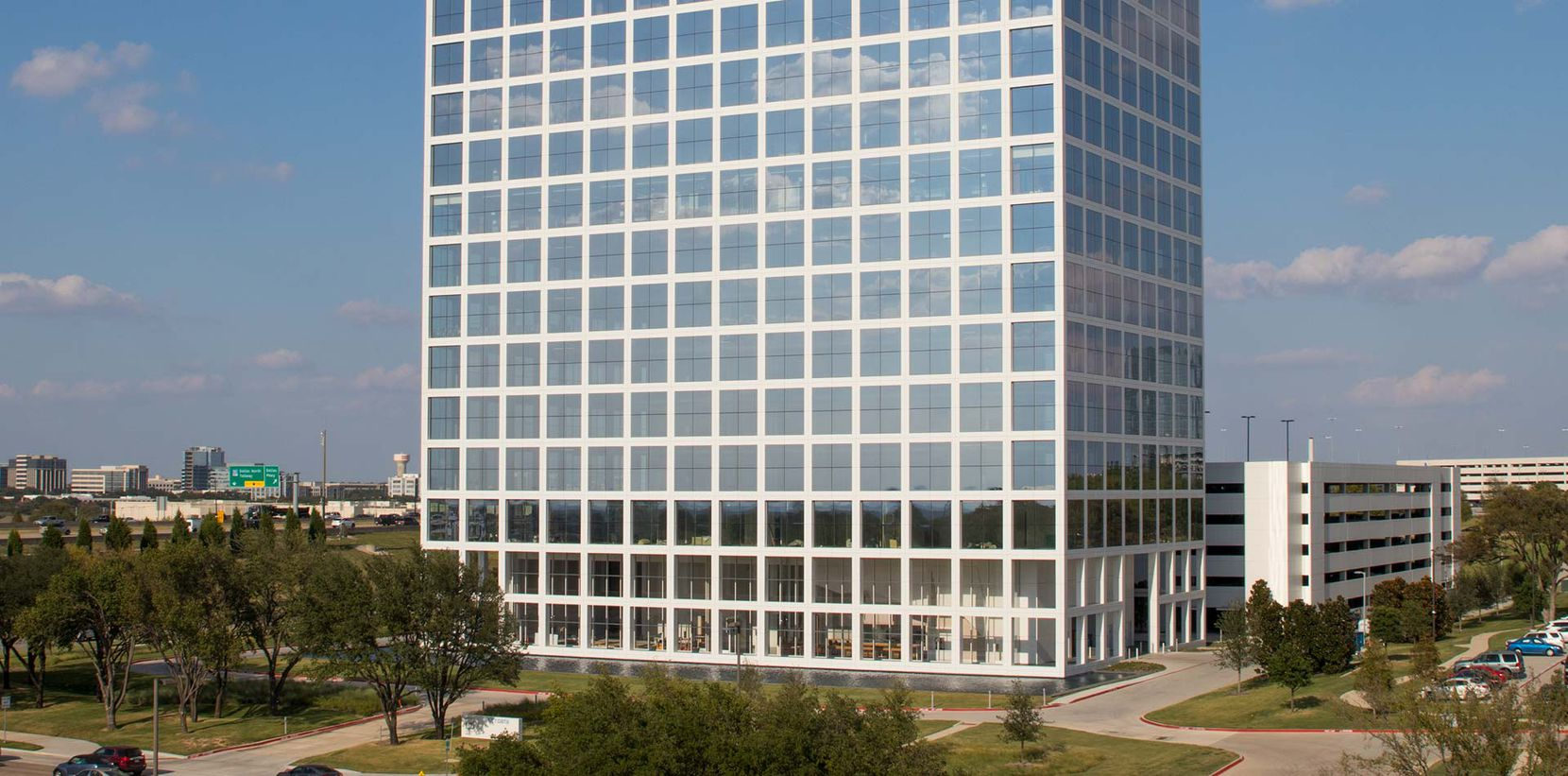The One Legacy West tower is across the street from Toyota's U.S. headquarters in Plano.