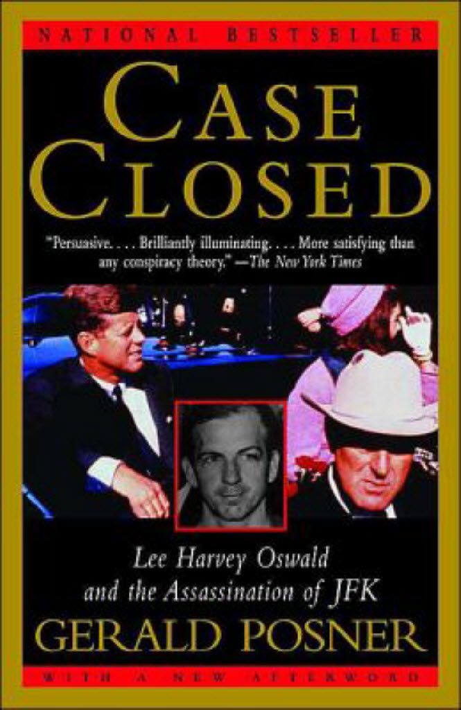 The cover of Gerald Posner's book, Case Closed.