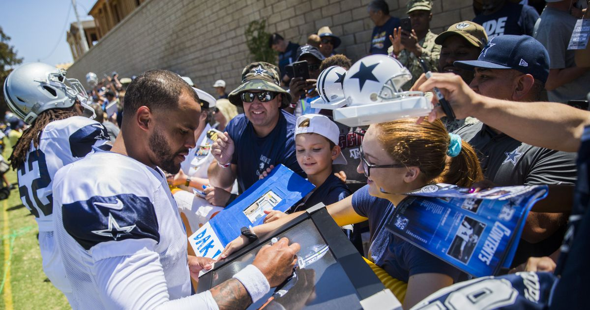 Dallas Cowboys officially headed back to Oxnard for training camp in July