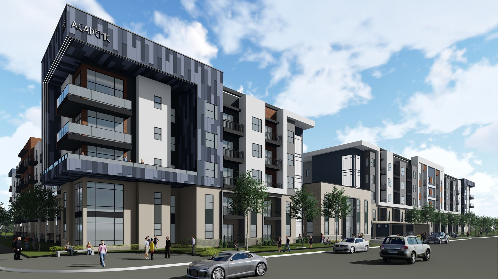Leon Capital Group's Ross Avenue apartment development includes the 2-story centerpiece building from the old school district headquarters.
