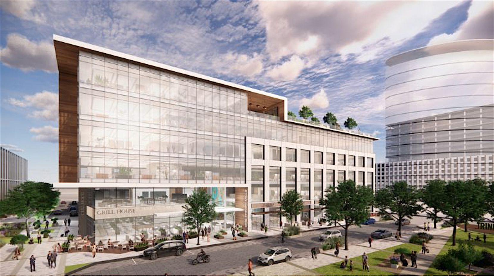 Trinity Mills Station will start with a speculative office building.