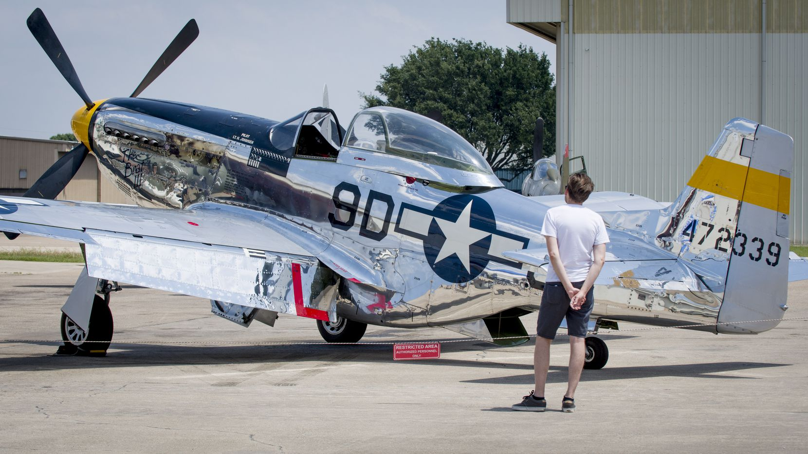 A P-51 Mustang is among the aircraft on display at the Cavanaugh Flight Museum in Addison.