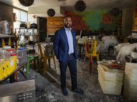 Nafees Alam, CEO and co-founder of DRG Concepts, stands inside Wild Salsa in June 2021. Several of his restaurants have been closed for over a year and are being renovated.