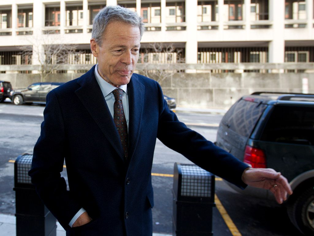 Time Warner CEO Jeff Bewkes arrives at the federal courthouse March 22, 2018, in Washington. The Trump administration is facing off against AT&T to block the telephone giant from absorbing Time Warner, in a case that could shape how consumers get, and how much they pay for, streaming TV and movies.