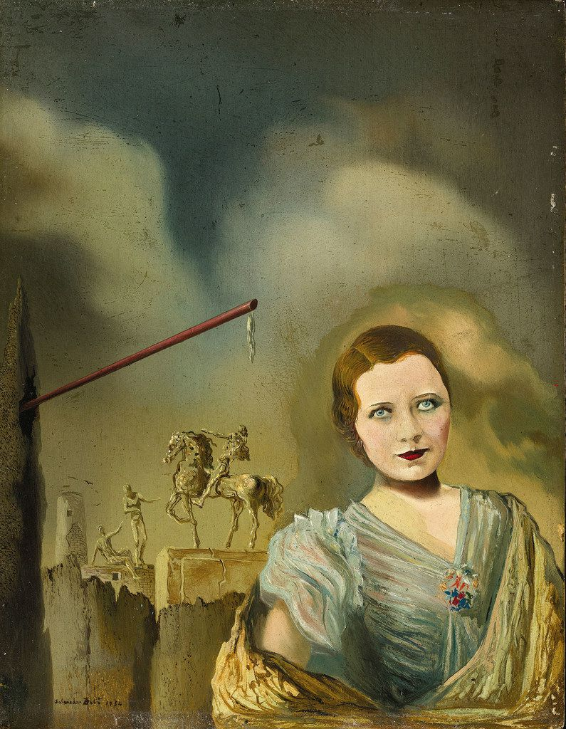 The 1934 work Portrait of a Woman is among seven works from private collectors in the exhibition.