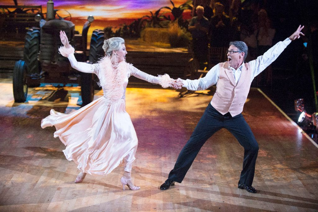Rick Perry and his partner, Emma Slater, on Dancing With the Stars on ABC. (ABC/Eric McCandless)