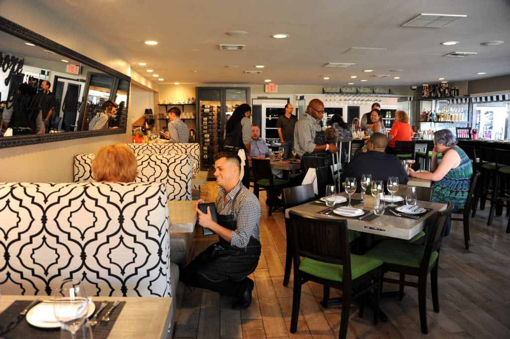 Guests enjoy southern dishes at Pink Magnolia in Oak Cliff.