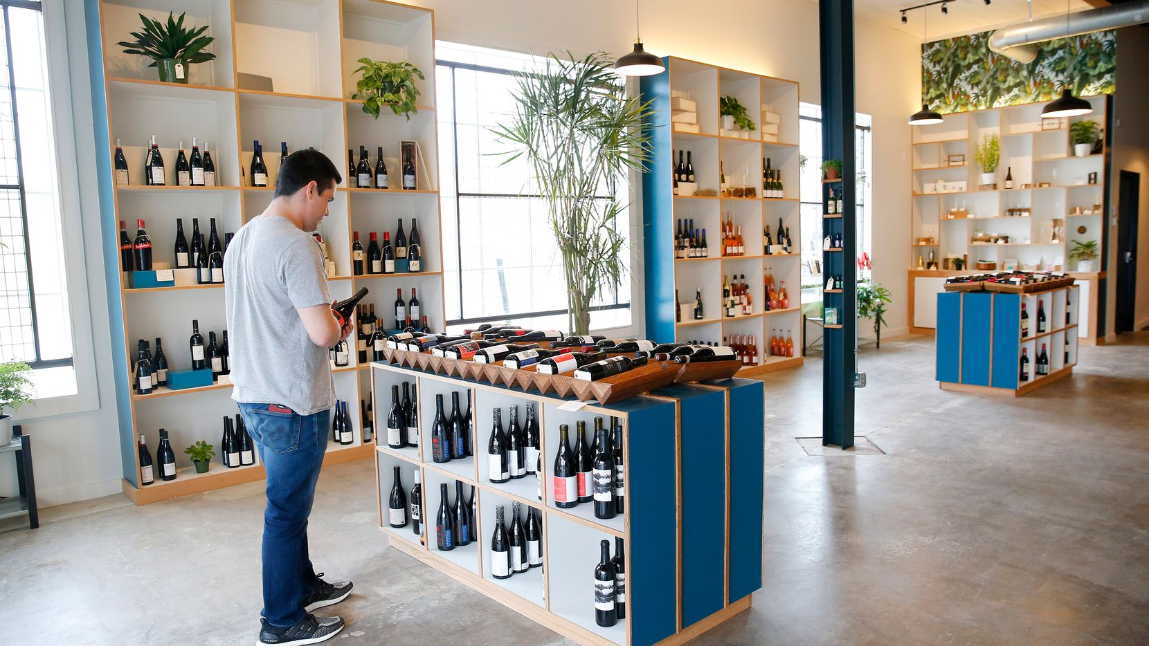 Bar and Garden, a new shop on Ross Avenue, specializes in natural wines. (Tom Fox/The Dallas Morning News)