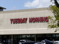 Exterior of Tuesday Morning in Hillside Village in Dallas on Thursday, May 4, 2017. (Rose Baca/The Dallas Morning News)