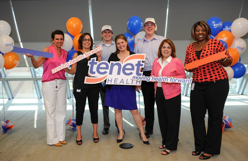 In 2014, employees at Tenet Healthcare in Dallas celebrated the company's new logo. Since then, Tenet has fallen on difficult times and it's looking to offshore over 1,000 jobs to a country with lower labor costs.
