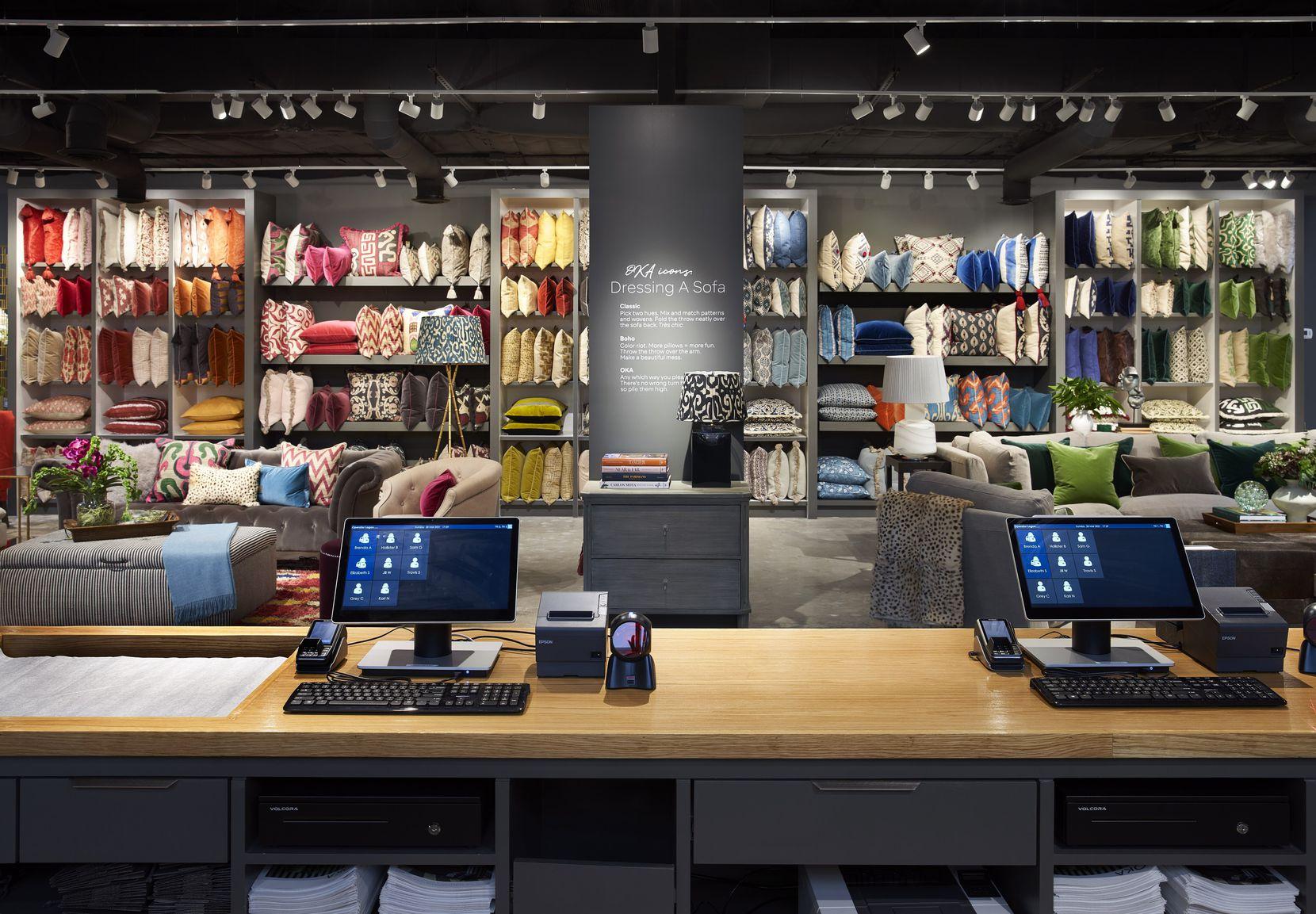 Interior of the OKA store in Houston. OKA said it will open in Dallas in November.