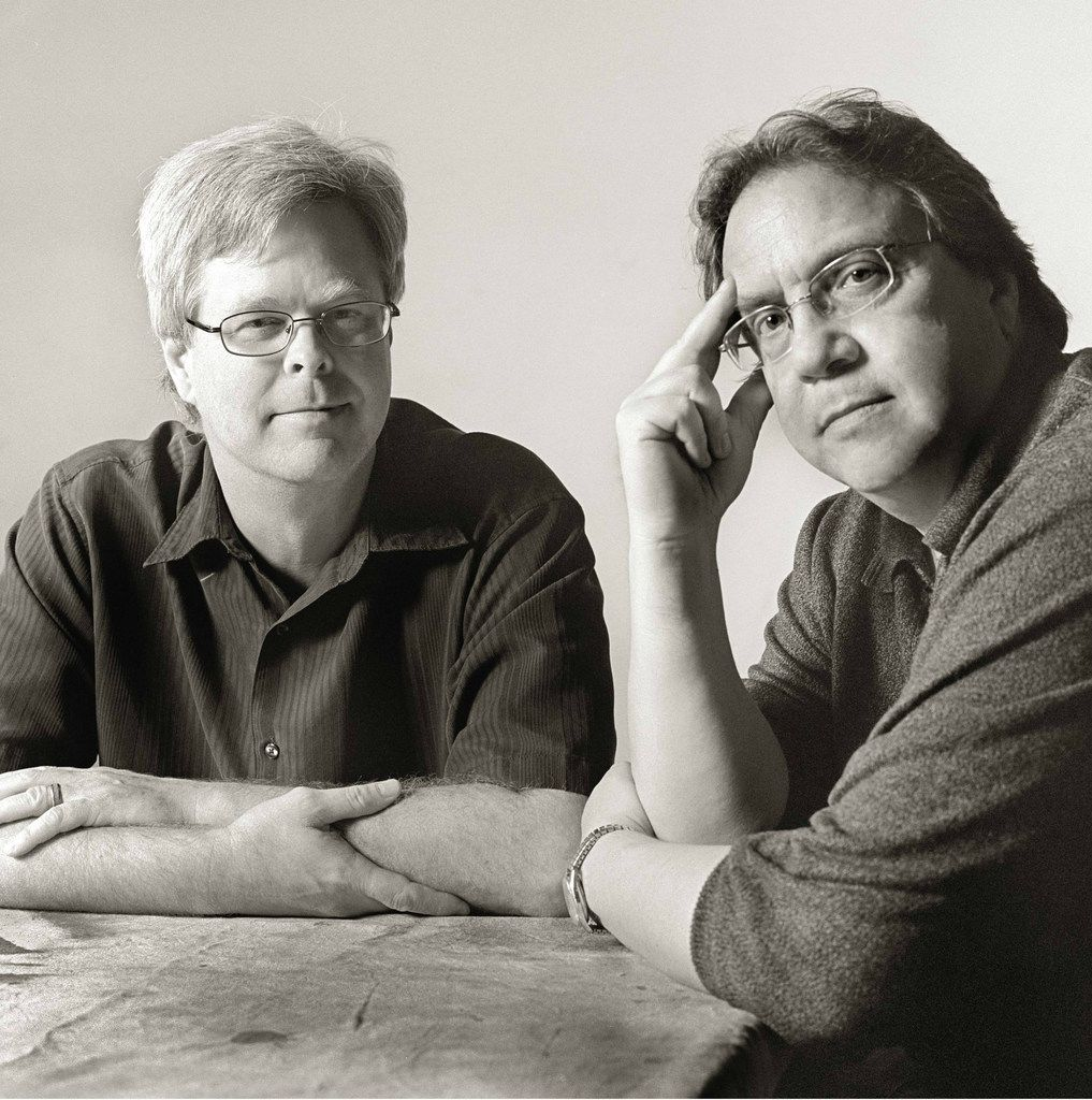 Authors Bill Minutaglio (right) and Steven L. Davis.