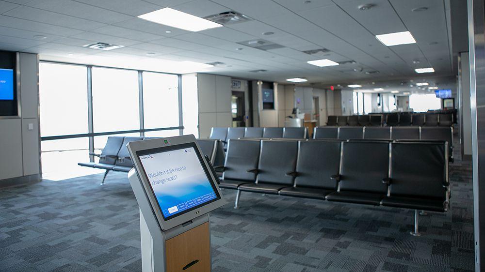 Satellite Terminal E at DFW Airport.
