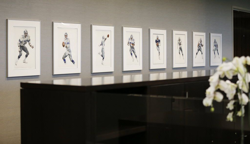 Artwork outside executive offices at the Dallas Cowboys new headquarters at The Star in Frisco on Sunday, August 21, 2016. The Star, is a joint project with the City of Frisco, and Frisco ISD. (Vernon Bryant/The Dallas Morning News)