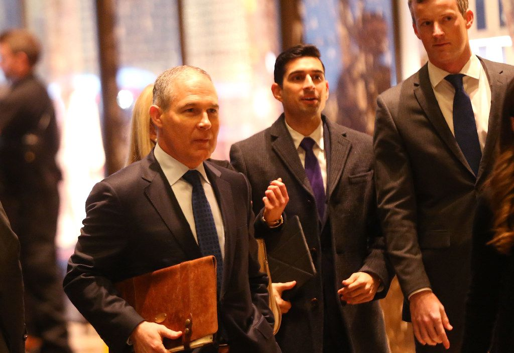 "Oklahoma Attorney General Scott Pruitt is a prominent ally of the fossil fuel industry who has written that the climate change debate is ""hardly settled."" (Spencer Platt/Getty Images)"
