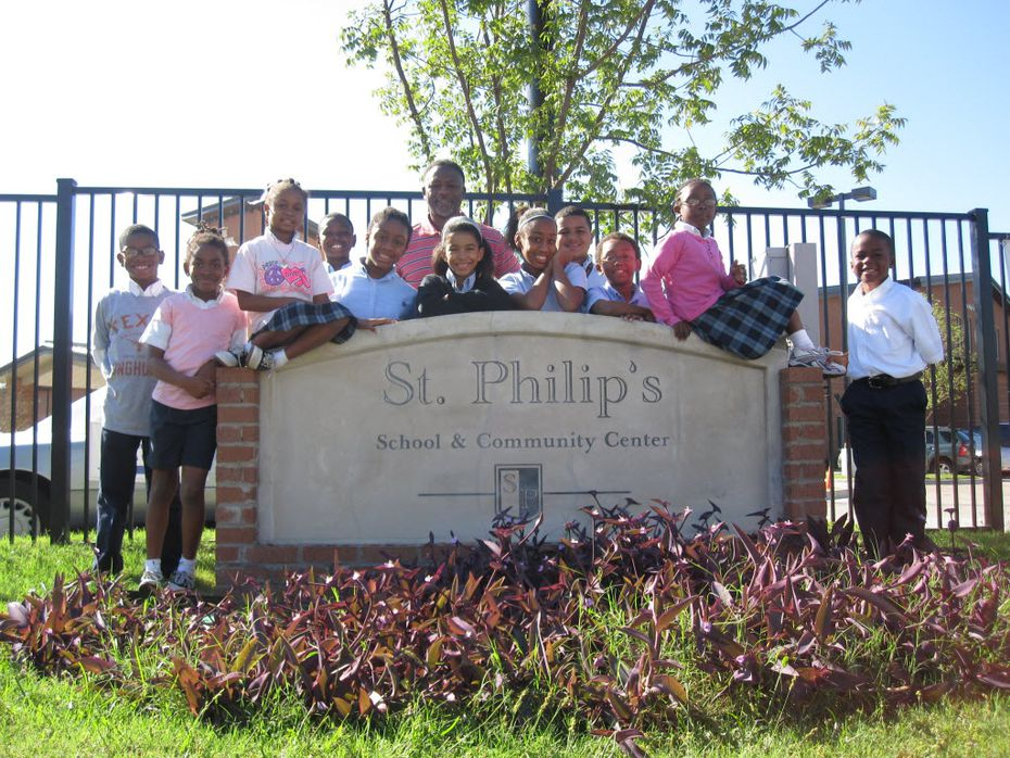 Students at St. Philips School in 2011.
