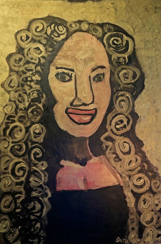 A portrait of actress Kyndra Mack painted by student Sara Oleksy. The painting will be on display at the show of 'Midas,' which will be presented from Oct. 7 to Oct. 23 at the Oak Cliff Cultural Center.