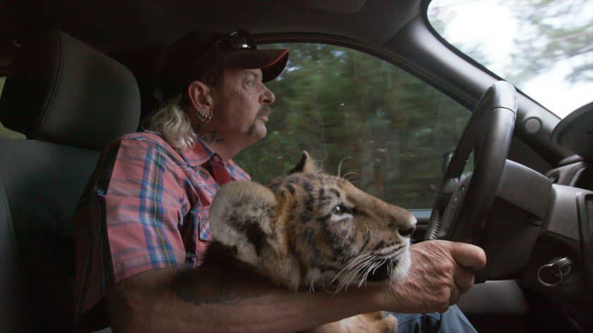 "Joe Exotic in a scene from ""Tiger King."""