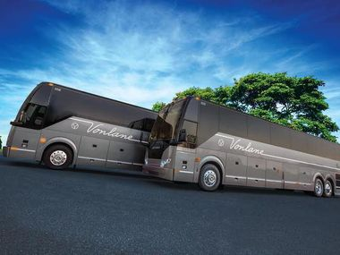 Vonlane buses which offer complimentary food, drinks and Internet service.