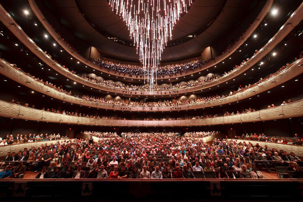 The chandelier at the Winspear Opera House is getting new music for its ascent into the ceiling.