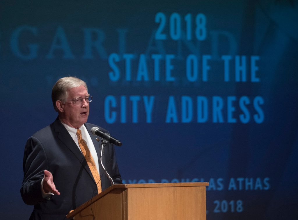 Garland Mayor Douglas Athas says he is stepping down because the the City Council is broken and residents aren't being heard. (Rex C. Curry/Special Contributor)