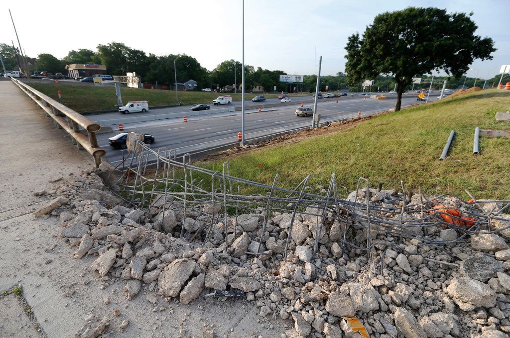 The Eighth Street bridge at Interstate 35E was closed on Monday to prepare for removal this weekend. The crossing will be closed for six months as part of TxDOT's Southern Gateway project.