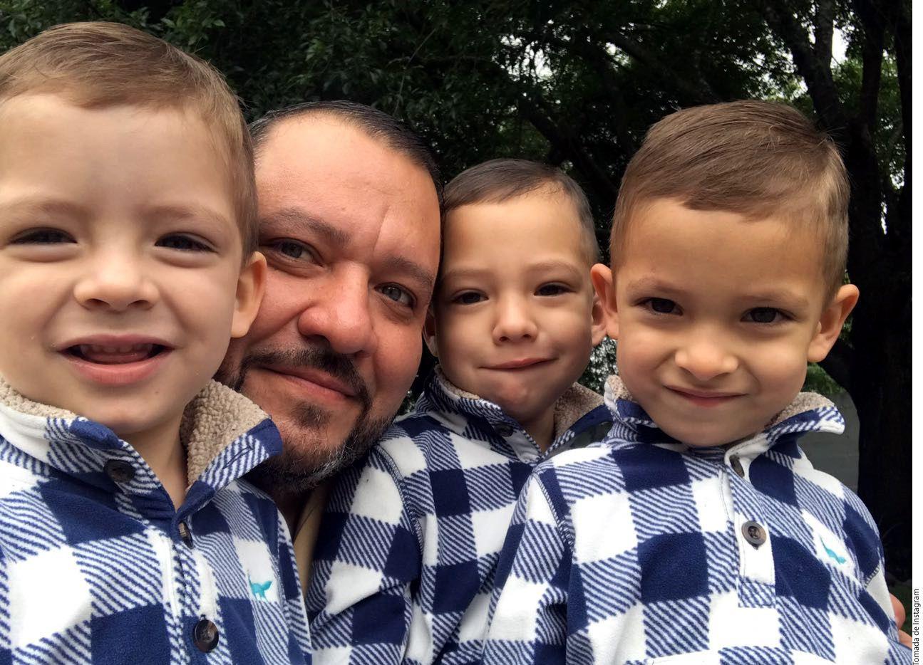 A los tres hijos de Beto Zapata les gusta la música, como a su padre, pero quien muestra mayor interés es Betito (primero de der. a izq.)./ AGENCIA REFORMA
