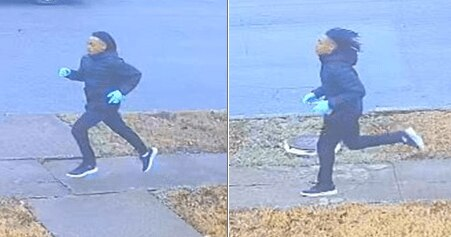 Police released these images of a man they say is a suspect in the robbery.