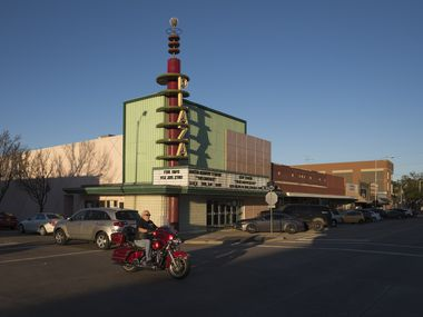 The Plaza Theatre building in downtown Garland, photographed in 2017. The city of Garland is making resources available to residents struggling amid the COVID-19 pandemic and its economic fallout. (Rex C. Curry/Special Contributor)