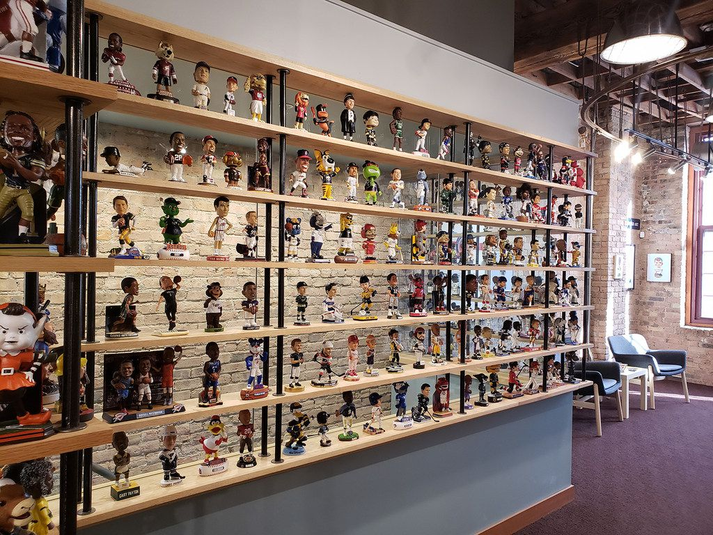 The National Bobblehead Hall of Fame and Museum has more than 6,500 items in its collection.