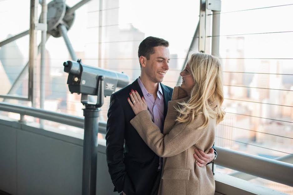 Gabe Herrera thought the GeO-Deck at Reunion Tower in Dallas would be the perfect place to propose to his longtime high school sweetheart, Ashley.