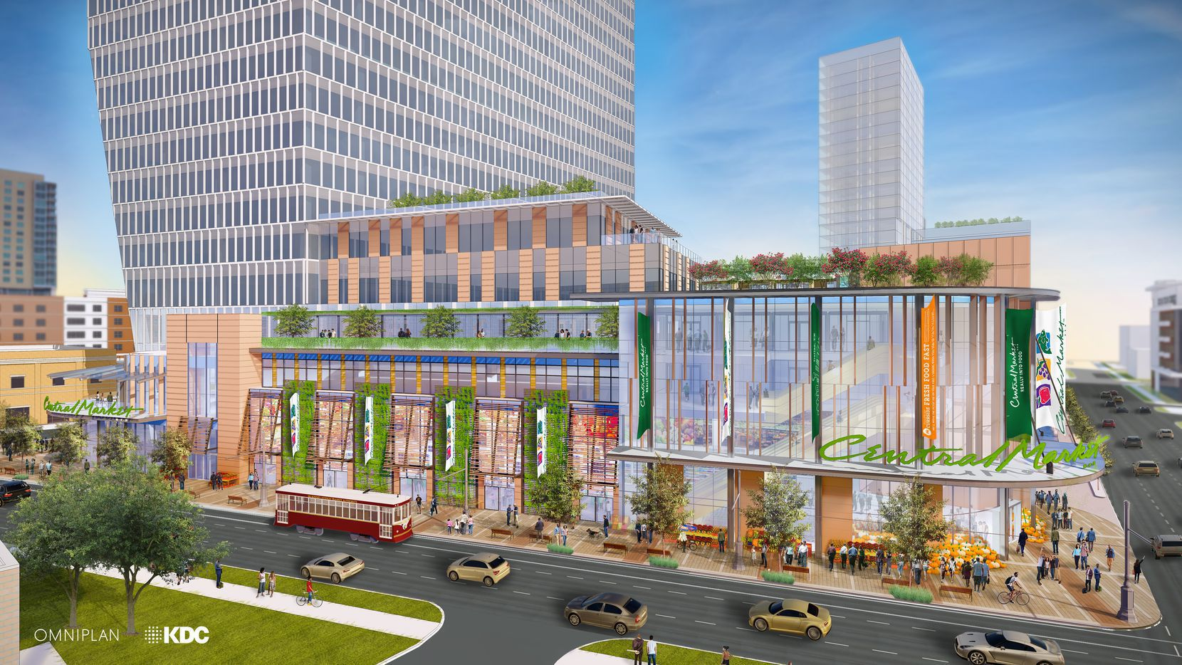 The McKinney Avenue tower that will house a new Central Market location is set to start early next year.