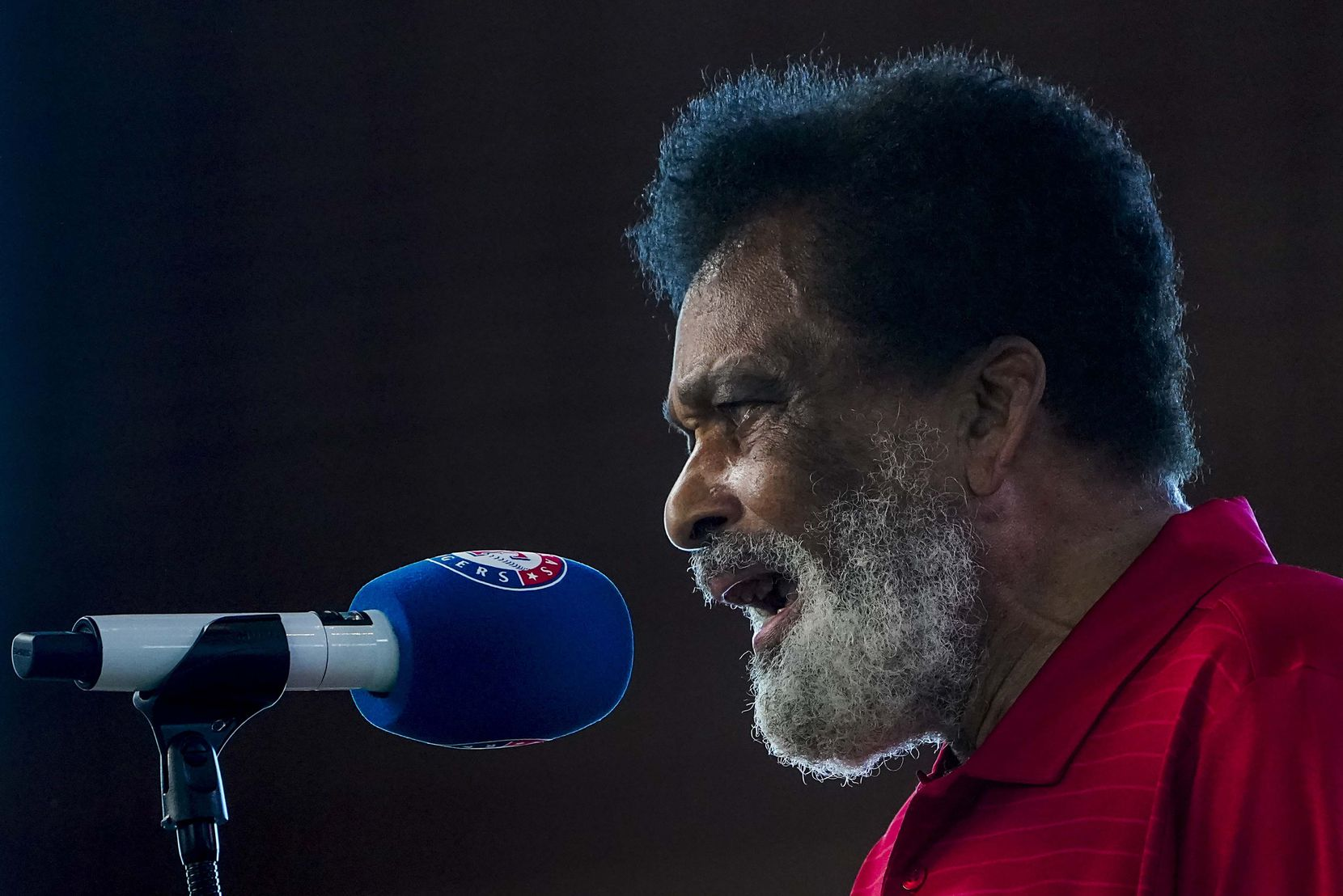 Charley Pride sang the national anthem before the Texas Rangers faced the Colorado Rockies on opening day at Globe Life Field on July 24, 2020.