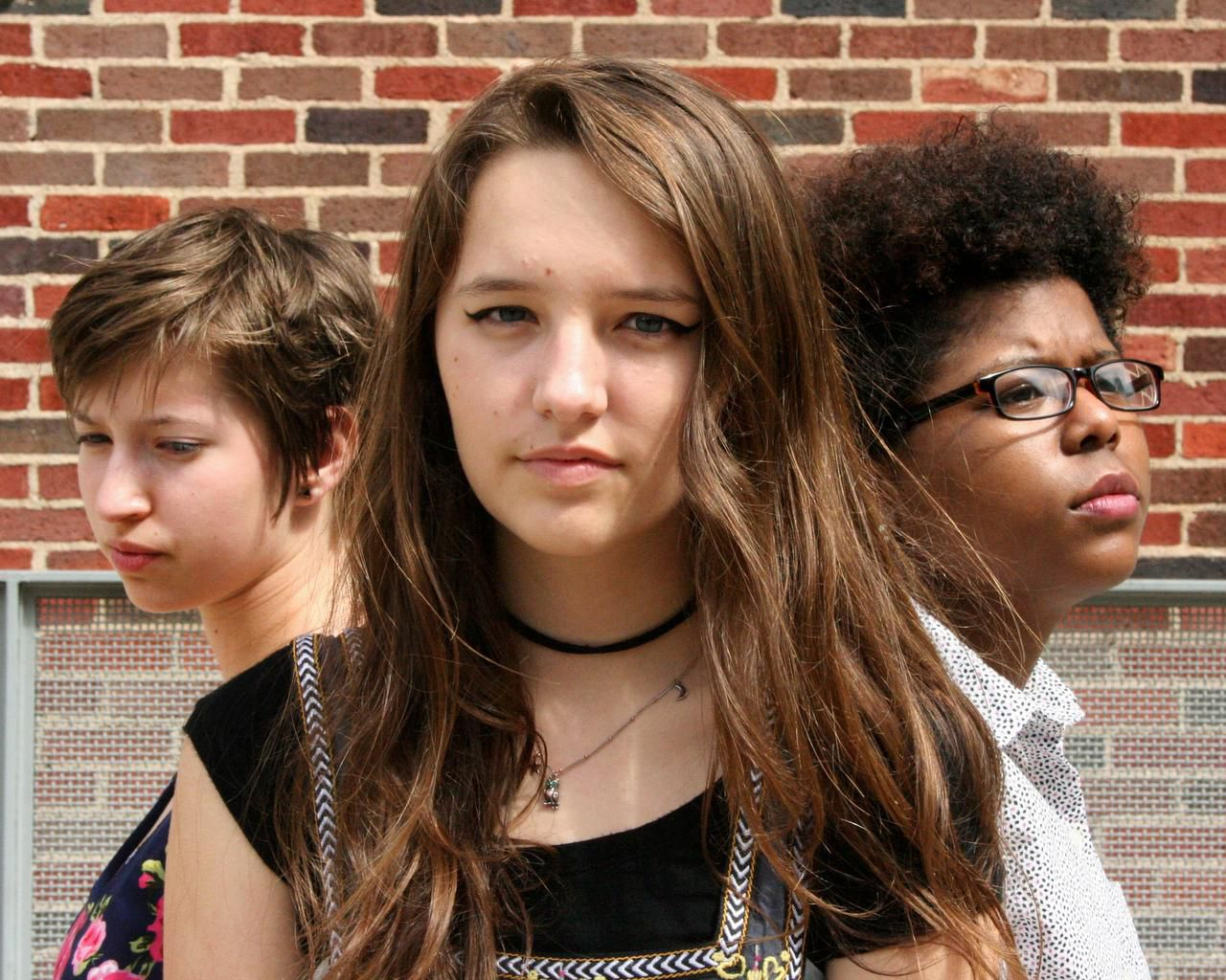 From left: Maya Pearson, Isabella Montague and Alexandria Lofton in Dangerous Things on Dark Nights by CrossOver Arts