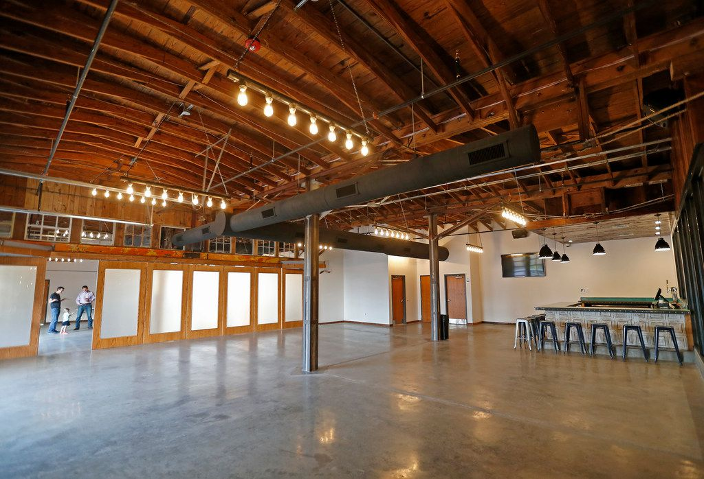 The special events area at the new Four Corners Brewing Co. facility in the Cedars neighborhood in Dallas, Wednesday, Oct. 18, 2017.