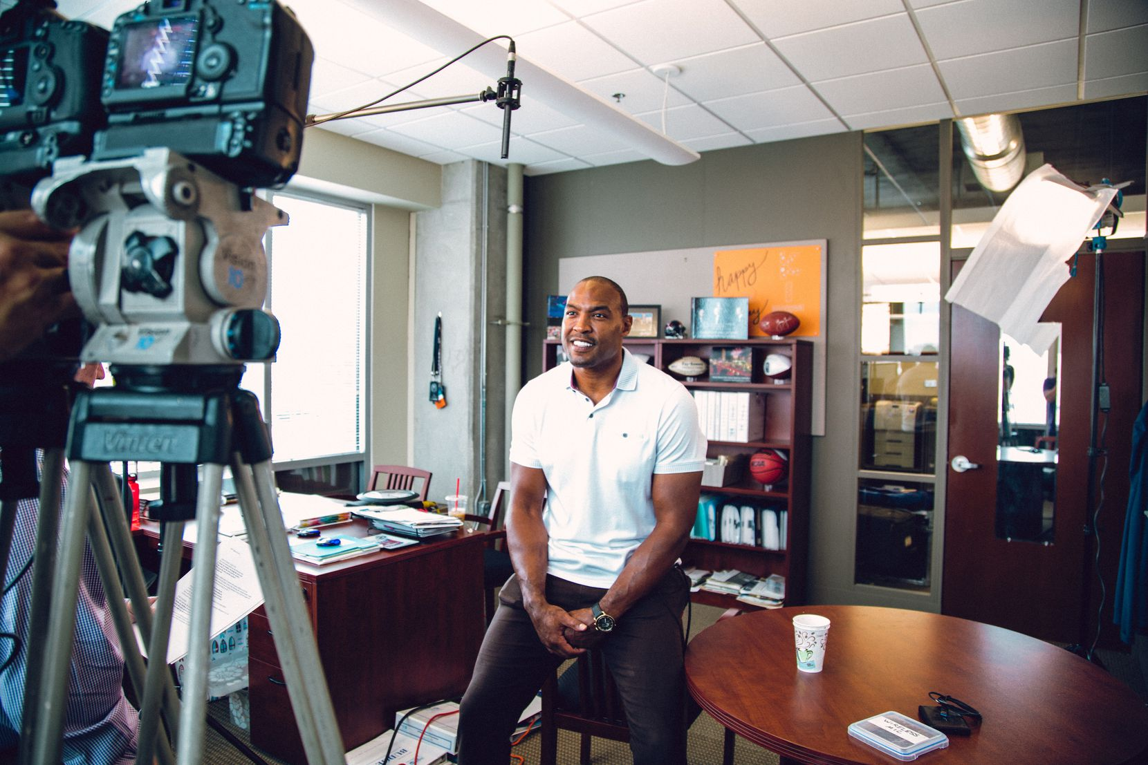 """Former Dallas Cowboys safety great Darren Woodson says this is the right time for him to leave his job at ESPN. """"It was a grind,"""" he said. """"It wore me down through the years and was very time-consuming."""