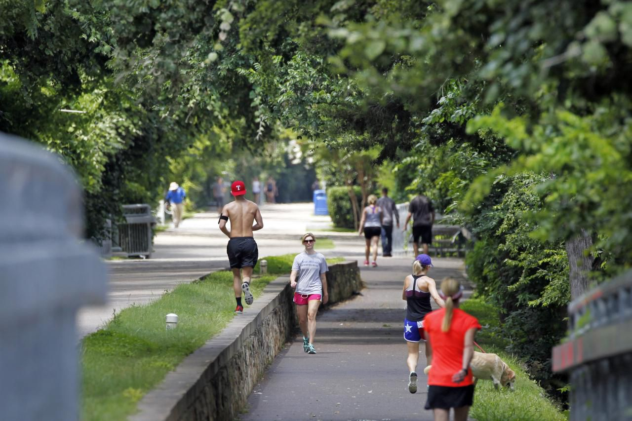 Dallas has a deal with DART covering about 7 miles of trails spread over the Katy Trail, the Santa Fe Trail, some of the Cottonwood Trail and the Santa Fe Trail extension.