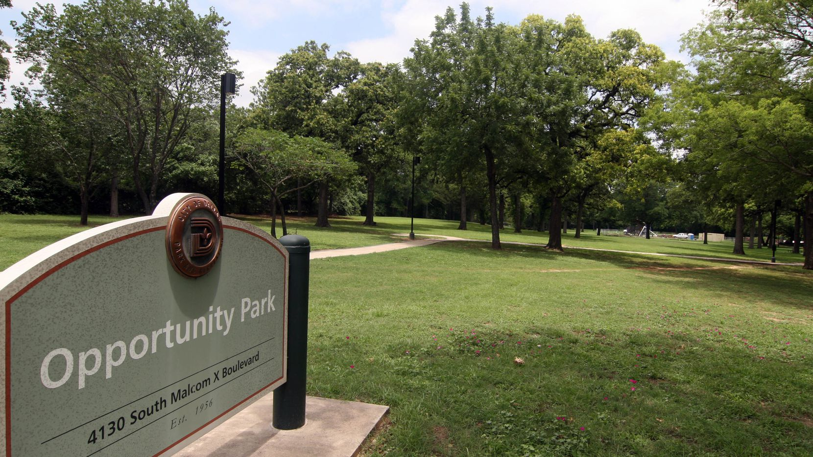 This 2007 file photo shows Opportunity Park in South Dallas which is being renamed to honor former council member Leo V. Chaney.
