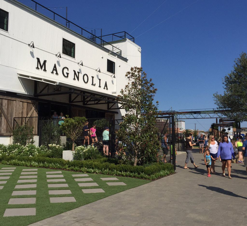 A new entrance and landscaping are part of the improvements made this summer at Magnolia Market at the Silos in Waco. (Maria Halkias/Staff)