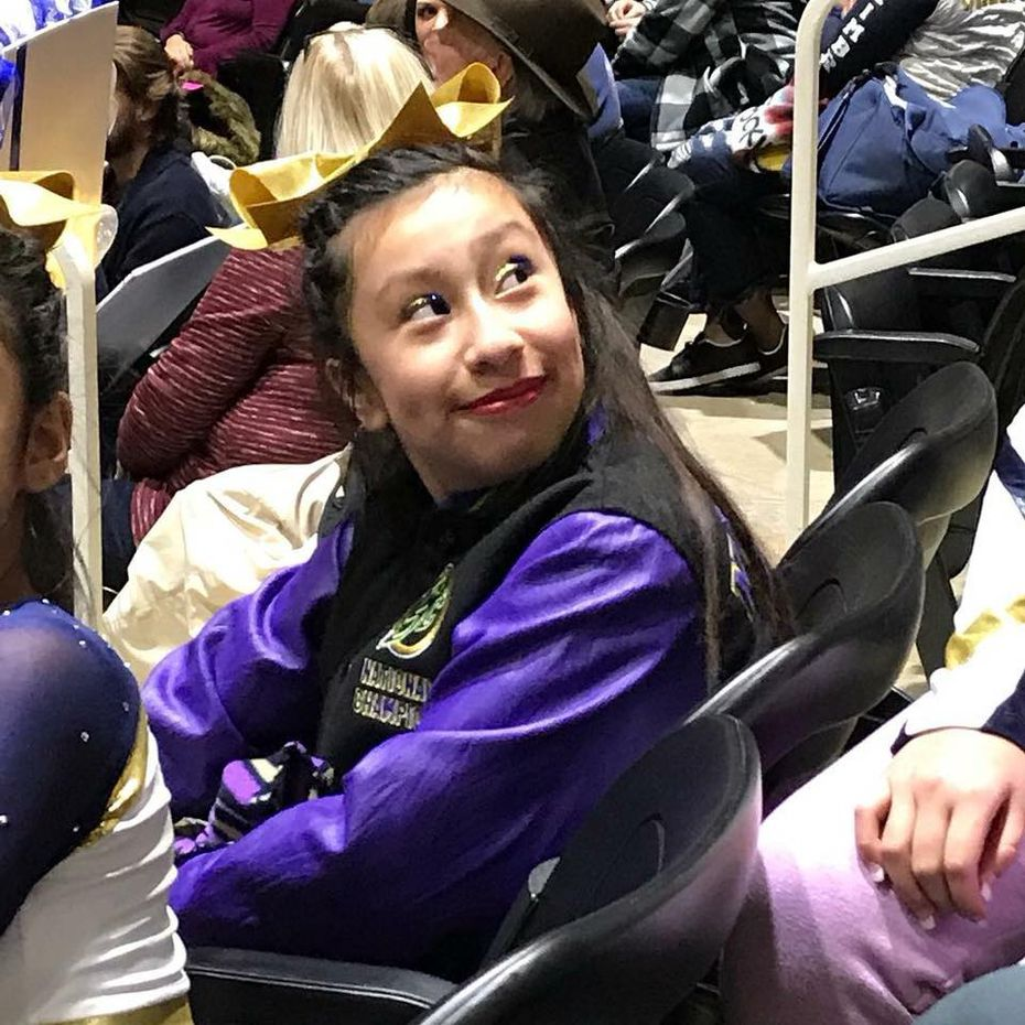 Linda Rogers, the 12-year-old girl who died Friday in a gas explosion, was a two-year member of the Falcons Elite Cheer team. It performed in a competition Friday night in her memory.