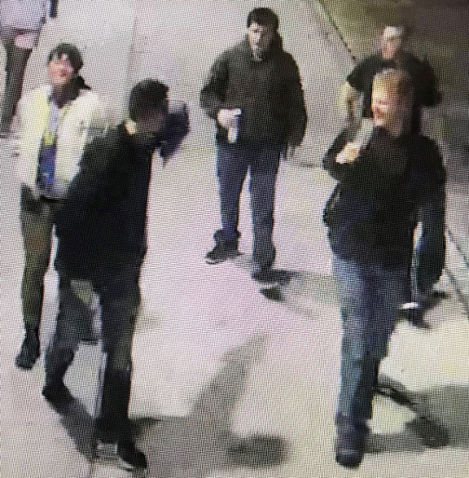 The Southern Methodist University Police Department is looking for a group of people considered persons of interest in the case of white supremacist banners and fliers that appeared on campus in the first weekend of December. These five people were seen in surveillance footage at Park Cities Plaza about 11:20 p.m. Dec. 2.