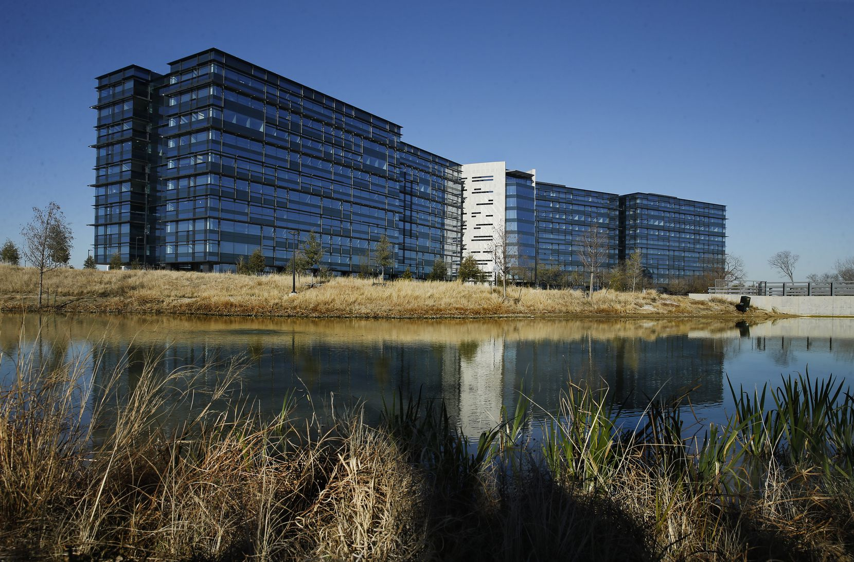 An exterior view of Pioneer Natural Resources' new headquarters in the Las Colinas development of Irving, which sold for $584 million.