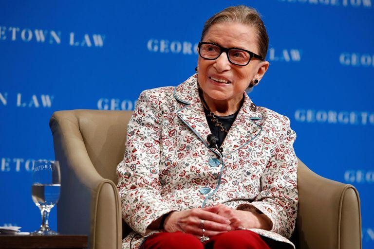 La jueza de la Corte Suprema Ruth Bader Ginsburg. AP
