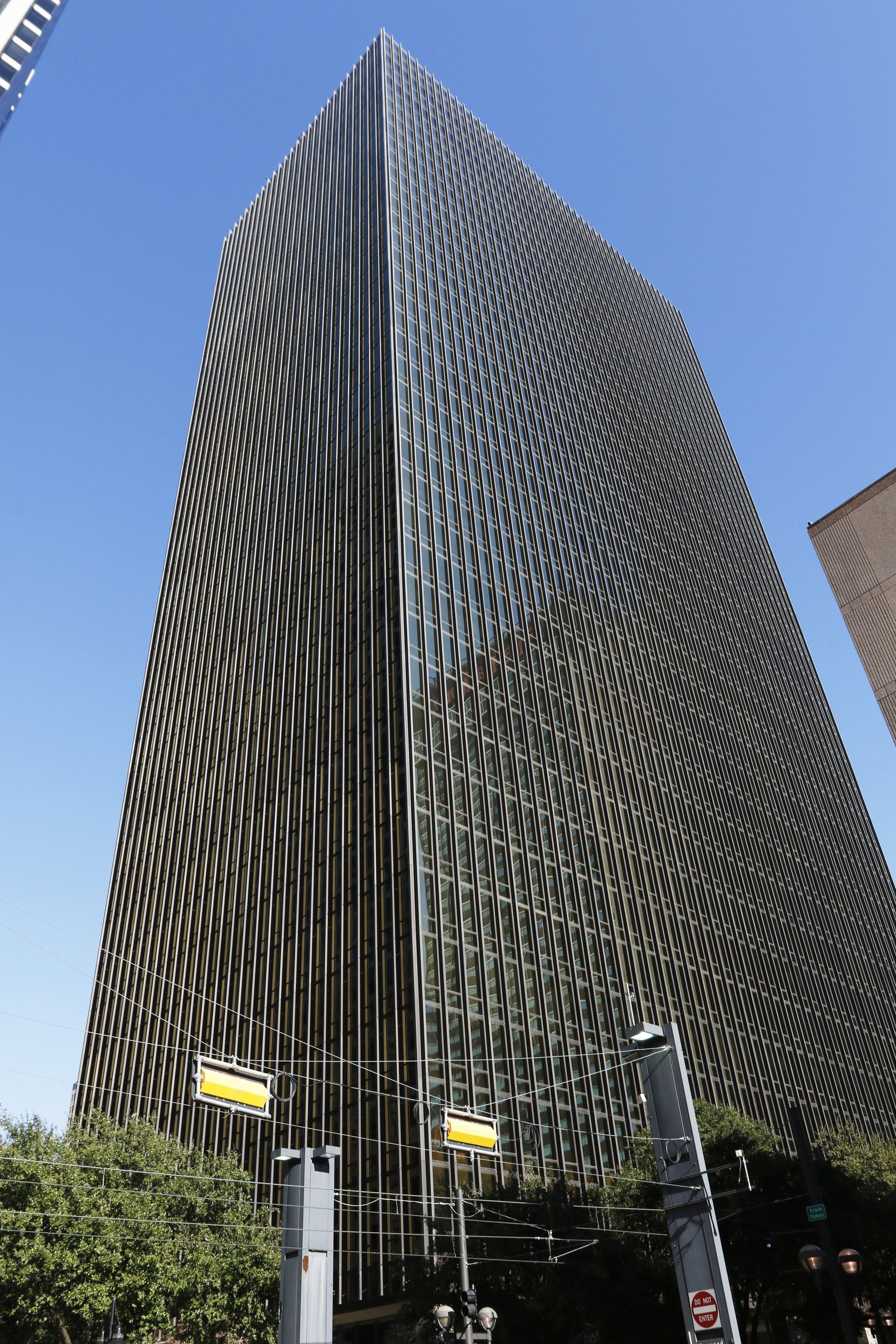 Bryan Tower located in downtown Dallas contains 40 floors and was completed in 1973.