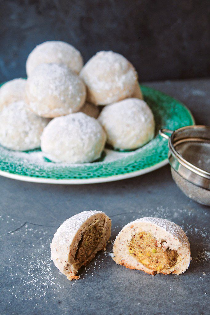 Ghari Stuffed Italian Wedding Cookies from Milk & Cardamom cookbook. Reprinted with permission from Milk & Cardamom by Hetal Vasavada, Page Street Publishing Co. 2019.